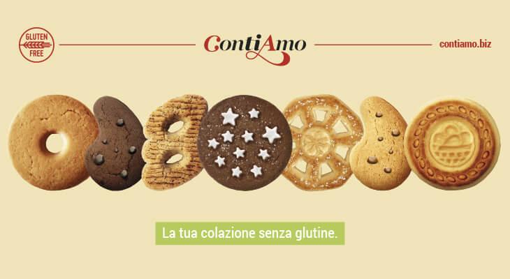 Biscotti ContiAmo senza glutine: 7 gusti, un solo amore