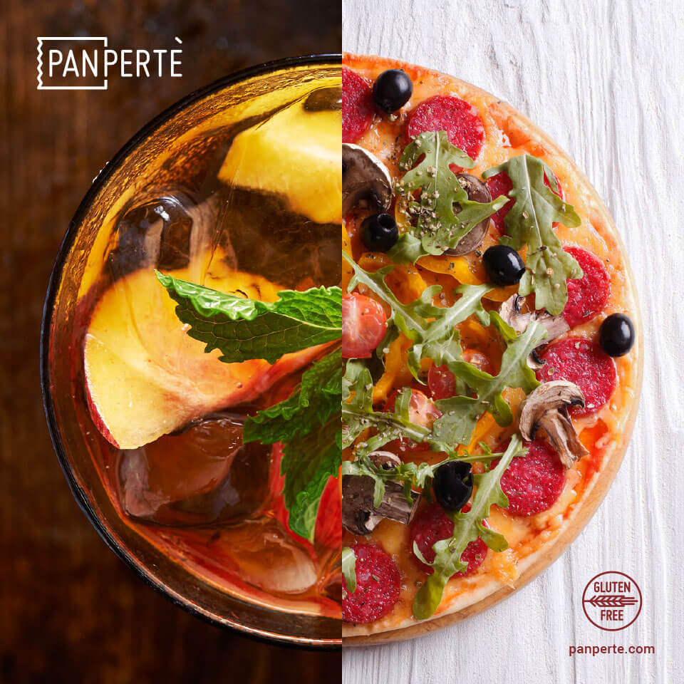 Piadipizza Panpertè senza glutine con Southern Peach